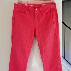 MADEWELL High Rise Skinny Ankle JEANS Pants SZ 27